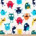 Little Monsters Minky Plush Fabric