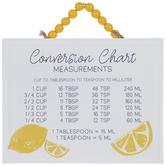 Conversion Chart Lemon Metal Wall Decor