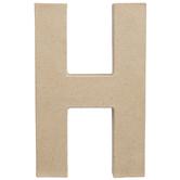 "Paper Mache Letter H - 8 1/4"""