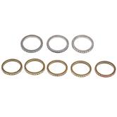 Rhinestone Band Rings - Size 8