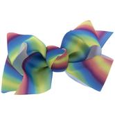 Rainbow Grosgrain Bow Clip