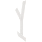 White Circular Monogram Iron-On Left Letter Y - 1 3/4""