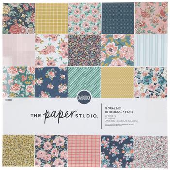 "Floral Mix Paper Pack - 12"" x 12"""