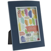 """Blue Frame With Metal Facing - 3 1/2"""" x 5"""""""