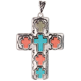 Cross Stones Pendant