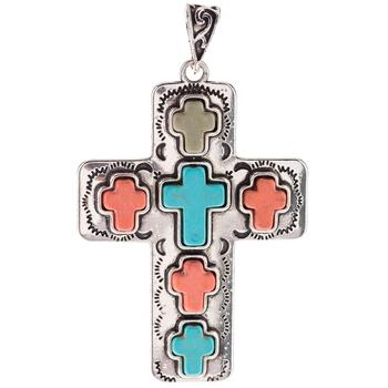 Cross Stones Pendant