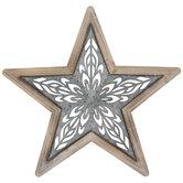 Cutout Star Galvanized Metal Wall Decor