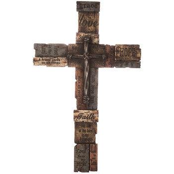 Carved Faith Wall Cross