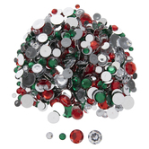 Red & Green Flatback Rhinestones