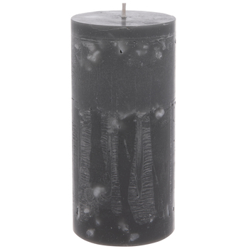 Gray & White Speckled Pillar Candle