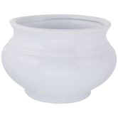 White Round Flower Pot