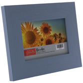 "Light Blue Distressed Wood Look Frame - 6"" x 4"""