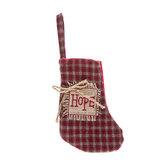 Hope Plaid Stocking - Mini
