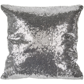 Silver Sequin Pillow Cover