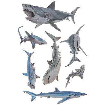 Sharks 3D Stickers