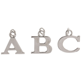 Uppercase Alphabet Charms