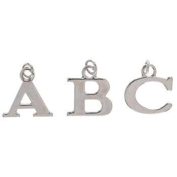 Uppercase Alphabet Charms