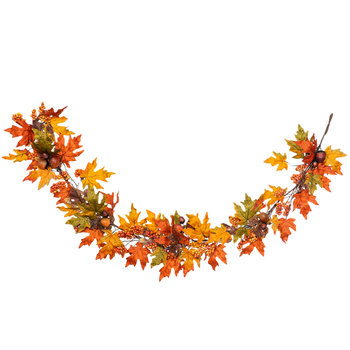 Maple Leaf, Berry & Acorn Garland