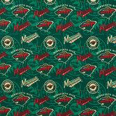 NHL Minnesota Wild Cotton Fabric