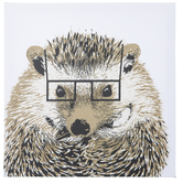 Hedgehog With Rectangle Glasses Canvas Wall Decor