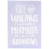 Ride With Unicorns Stencil