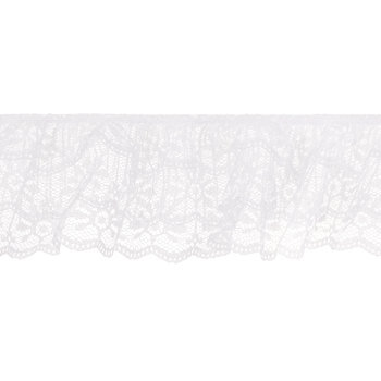 White Ruffled Lace Trim