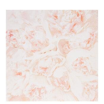 "Blush Realistic Peonies Scrapbook Paper - 12"" x 12"""