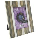 "Striped Wood Frame - 5"" x 7"""