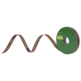 Metallic Red & Green Ribbon - 3/8""