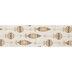 Gold Glitter Ornaments Wired Edge Ribbon - 2 1/2