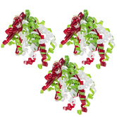 Red, White & Green Curly Bows