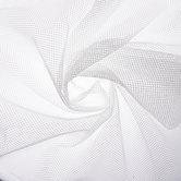 White Cargo Mesh Fabric