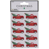 Merry Christmas Truck 3D Stickers
