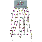 Silver & Pink Floating Bead Garland