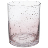 Pink Distressed Ombre Glass Vase - Large