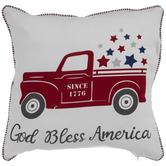 God Bless America Truck Pillow Cover