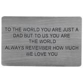 Dad We Love You Wallet Card