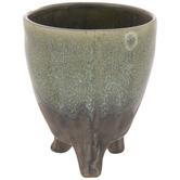 Green Speckled Vase