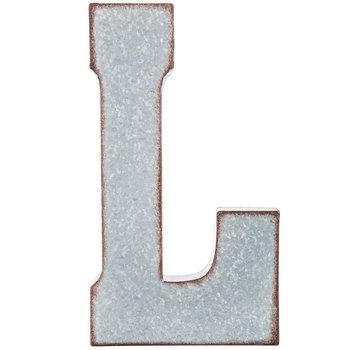 Galvanized Metal Letter Wall Decor - L