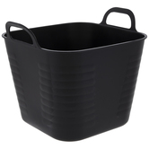 Square Ribbed Container With Handles