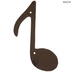 Music Note Metal Wall Decor - Large