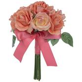 Coral Carolina True Touch Rose Bouquet