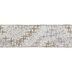 Gold & Silver Stars Single-Face Wired Edge Satin Ribbon - 2 1/2
