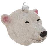 Gray Polar Bear Ornament