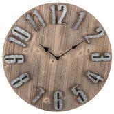 Rustic Wood Wall Clock