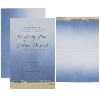 Ombre & Gold Foil Wedding Invitations