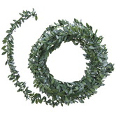 Mini Leaf Wired Ribbon Garland