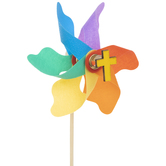 Multi-Color Cross Pinwheels