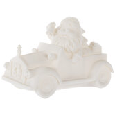 Santa In Car With Presents