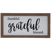 Thankful Grateful Blessed Wood Decor